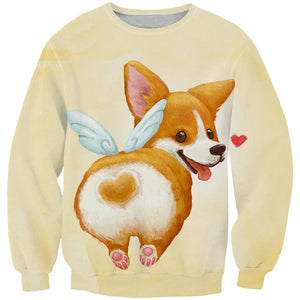 Cute Corgi Butt T-Shirt - Funny and Cute Dog Clothes