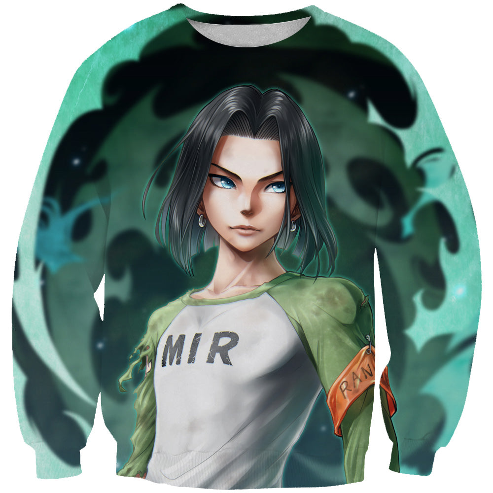 Android 17 Sweatshirt - Dragon Ball Super Android 17