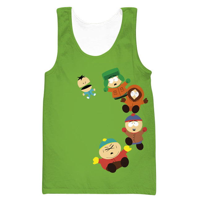Funny South Park Gym Shirts - Cartman, Stan and Kyle Tank Top