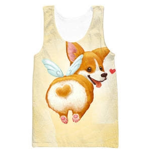 Cute Corgi Butt T-Shirt - Funny and Cute Dog Clothes - Hoodie Now