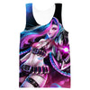 Colorful Jinx Hooded Tank - League of Legends Jinx Apparel