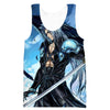 Blue Sephiroth Hoodie - Final Fantasy Clothing - Gaming Clothes