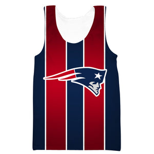 Red and Blue New England Patriots Tank Top - Football Patriots Clothes - Hoodie Now