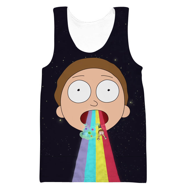 Rick and Morty Clothing - Morty Rainbow Tank Top