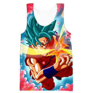 Super Saiyan Blue Kaioken Goku Hoodie - Dragon Ball Super Apparel