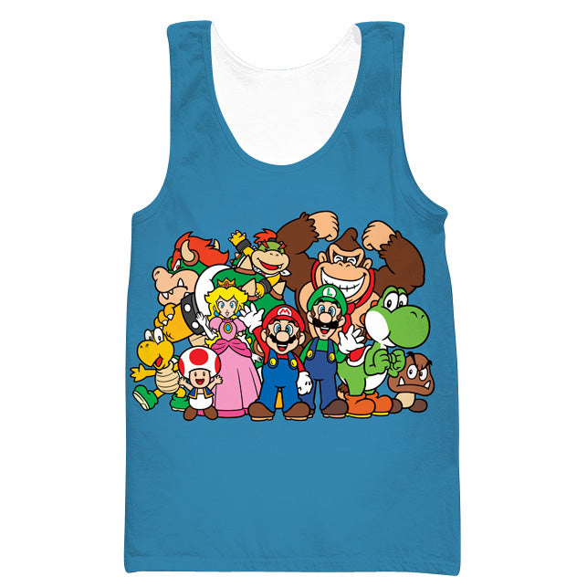 Blue Nintendo Character Tank Top - Video Game Clothing