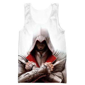 Assassin's Creed Dagger Hooded Tank - Assassin Video Game Clothing