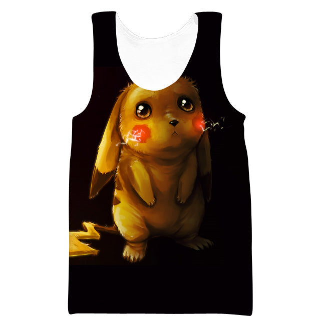 Pokemon Gym Shirts and Clothes - Sad Pikachu Tank Top