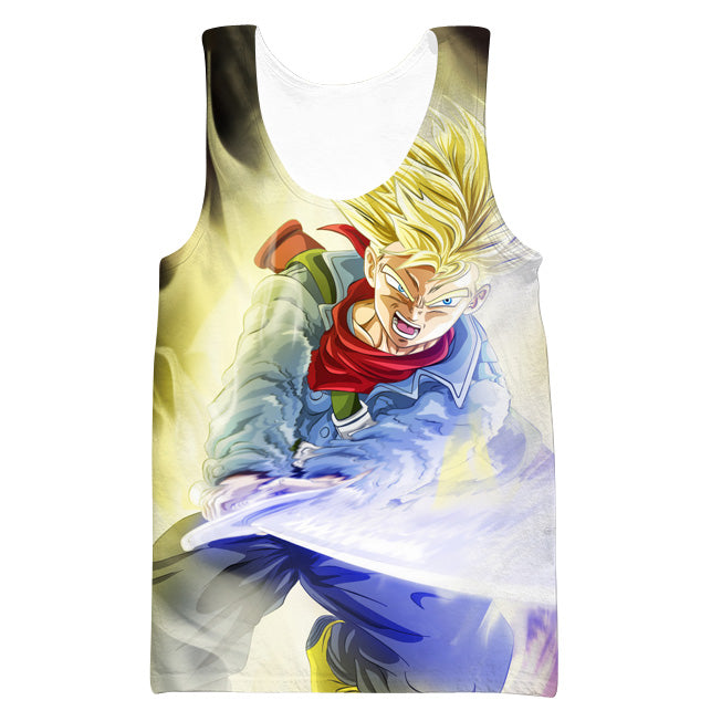Super Saiyan Trunks Sword Tank Top - Dragon Ball Super Trunks Clothing