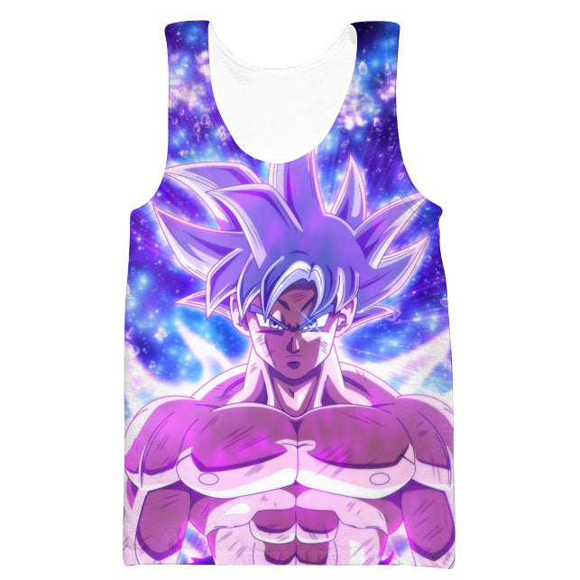 Goku Silver Ultra Instinct Tank Top - Dragon Ball Super Clothing