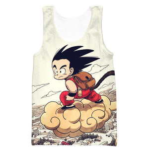 Kid Goku Nimbus T-Shirt - Dragon Ball Clothes Kid Goku