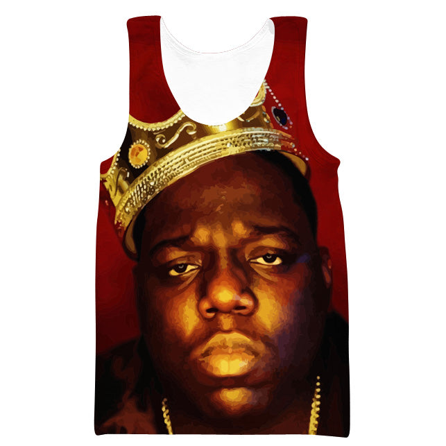 King Biggie Smalls Tank Top - Notorious Big Clothes - Hoodie Now