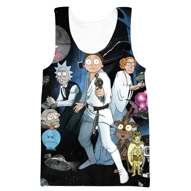 d24727f022999 Rick and Morty Star Wars Tank Top - Rick and Morty x Star Wars Clothes