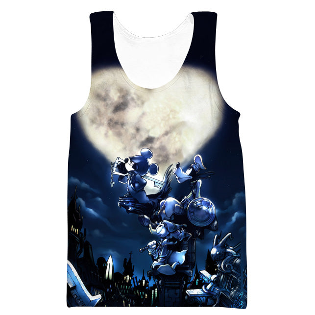 Mickey Goofy and Donald Kingdom Hearts Tank Top - Kingdom Hearts Clothes - Hoodie Now