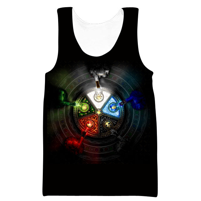 Magic the Gathering Tank Top - Five Mana Color Gym Shirts