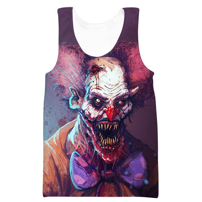 Creepy Clown Tank Top - Scary Clothes