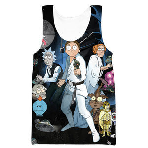 Rick and Morty Star Wars Hoodie - Rick and Morty x Star Wars Clothes - Hoodie Now