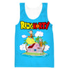 Rick and Morty x Dragon Ball Tank Top - Crossover Gym Shirts