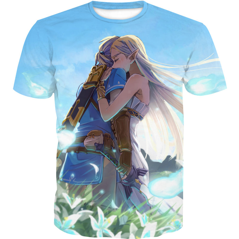 Zelda and Link T-Shirt - Cute Video Game Clothing