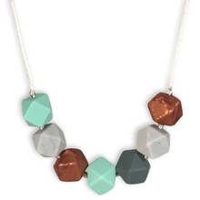 Mama + Belle® Aurora Mint and Rose Gold Teething Necklace