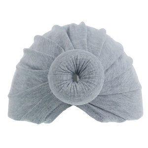 Grey doughnut headwrap turban (0-6 months)
