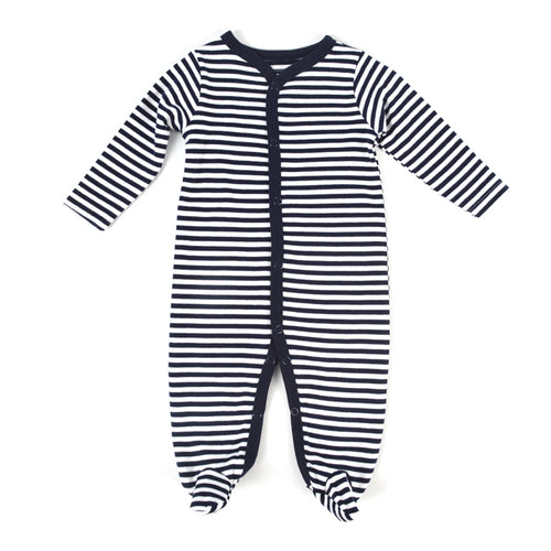 Breton Navy & White Baby Grow