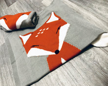 Knitted Fox Woodland Theme Fox Blanket