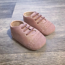 Pink Baby Suedette Brogue Shoes