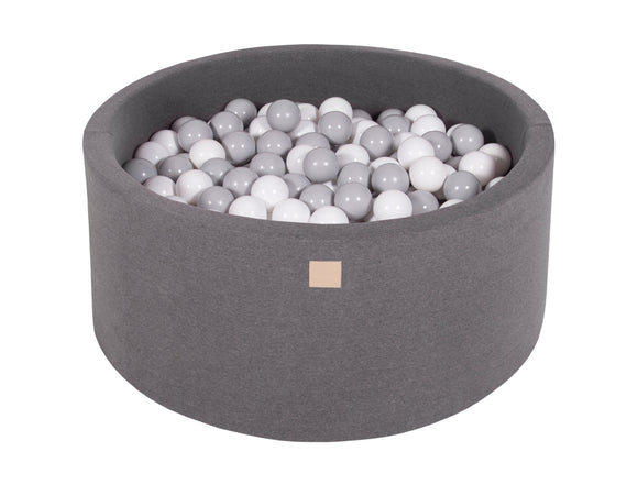 Graphite Hand Stitched 90cm Round Foam Filled Jersey Ball Pit Pool (30cm or 40cm height) - 200 balls