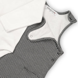 Monochrome thin stripe dungaree and bodysuit set (Newborn to 6 months)