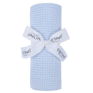 Babytown cellular blanket gift -70x90xm - baby blue
