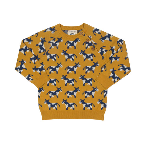 KITE organic cotton mustard moo moo sweater (0-24 months)