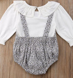 Bluebell romper with mock blouse (0-2 years)