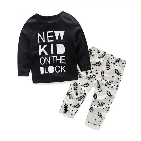 New kid on the block sleep/play wear set (3 months to 2 years)