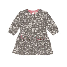 KITE organic cotton taupe dotty dress