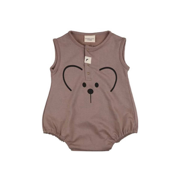 GOTS certified stone organic cotton bubble bear romper by Turtledove London (up to 12 months)