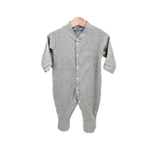 Grey marl jersey cotton super soft sleep suit babygrow (0-1 years)