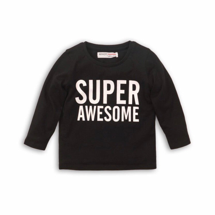 Super awesome black jersey cotton sweater top 9 months to 3 years
