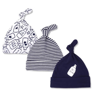 I love milk top knot hat set - pack of 3 (0-6 months)