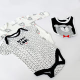 Monochrome bear 5 piece matching set (0 to 9 months)