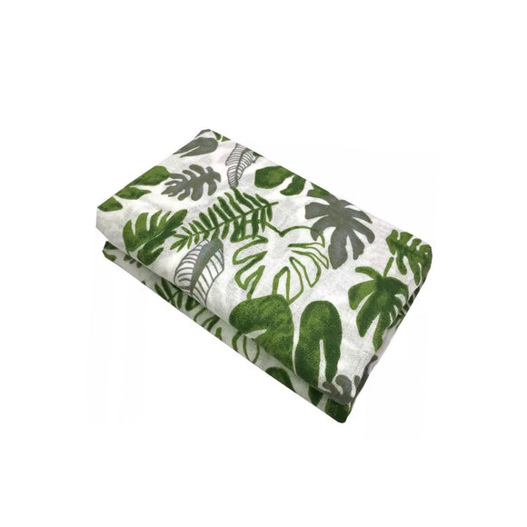 Large 110cm botanical muslin cotton swaddle blanket