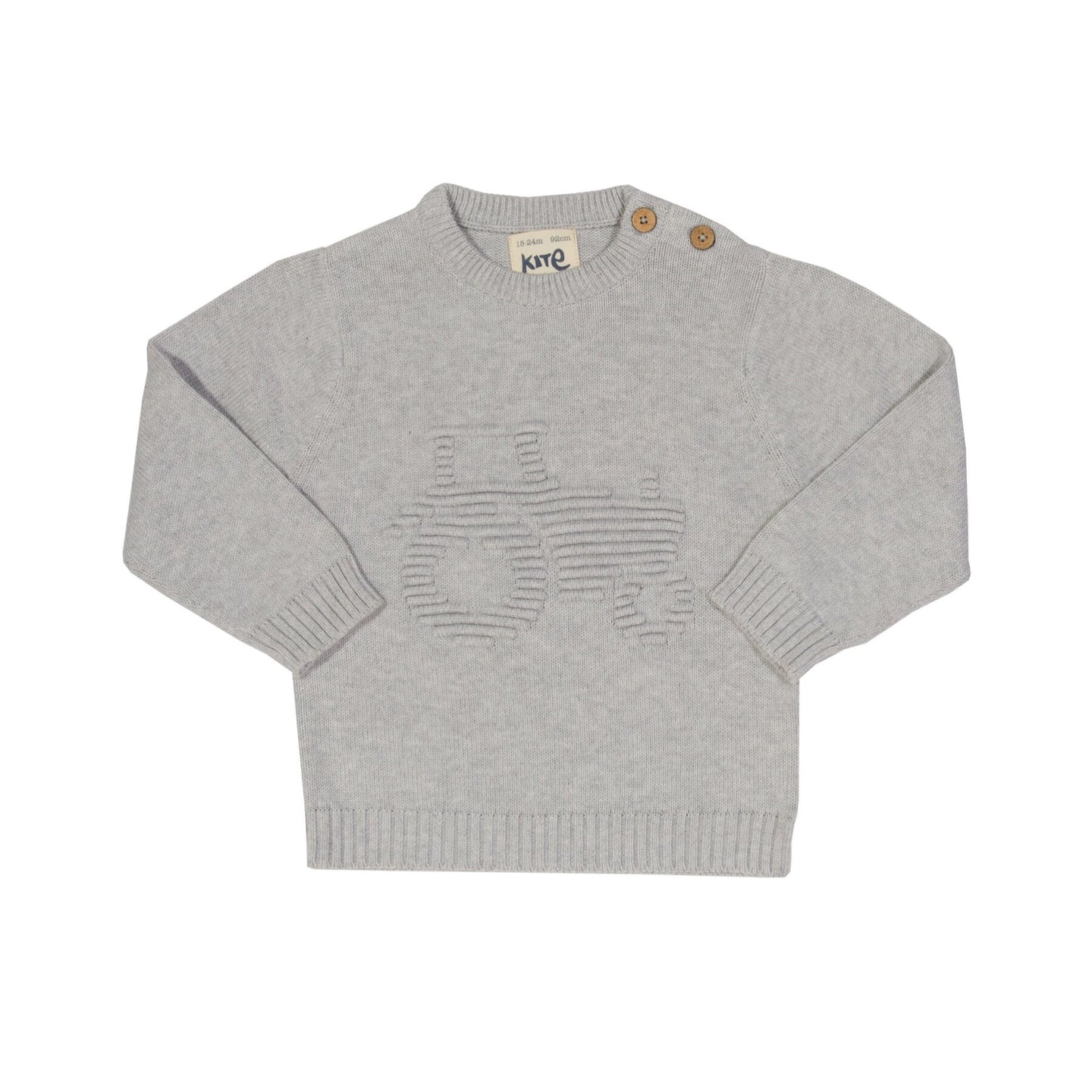 KITE organic cotton tractor sweater (0-24 months)