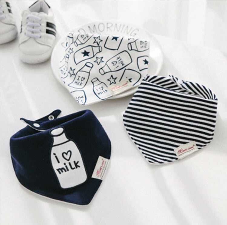I love milk terry bib set - pack of 3