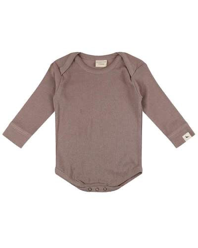 GOTS certified stone organic cotton ribbed bodysuit by Turtledove London (up to 12 months)