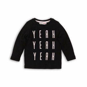 Yeah yeah yeah... monochrome long sleeve top (9 months to 3 years)