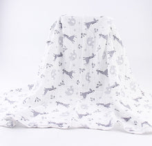 Extra large 120cm muslin monochrome swaddle blankets