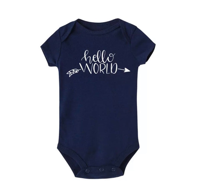 First outfit - Hello world Tribal bodysuit - navy
