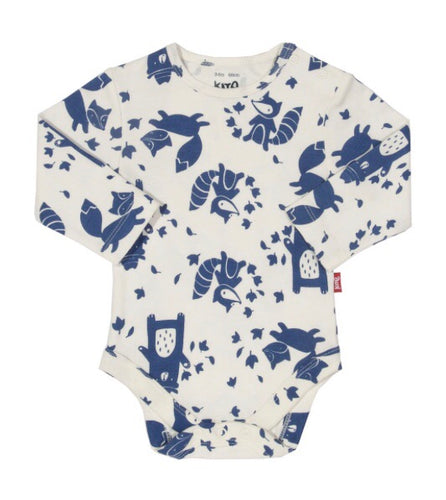 AW18 KITE GOTS certified organic cotton ranger woodland long sleeve bodysuit