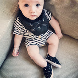 Monochrome Tots arrows LOVE lined dribble bib