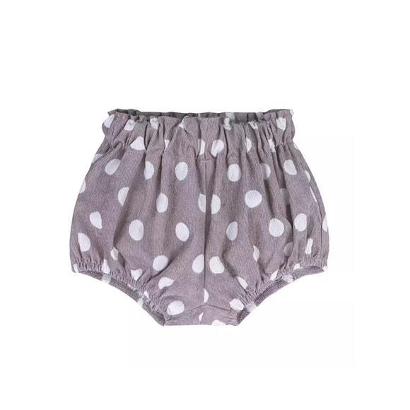 Corduroy dotty taupe bloomers shorts (3 months-3 years)